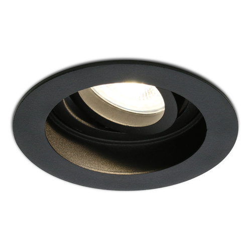 HOFTRONIC™ Dimbare LED inbouwspot Laredo 5 Watt 2700K zwart kantelbaar IP20