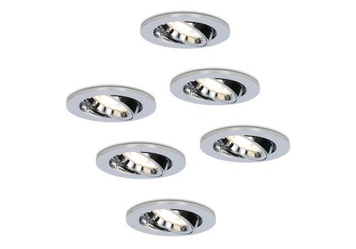HOFTRONIC™ Set van 6 stuks dimbare LED inbouwspots Maya met 5 Watt 4000K spot kantelbaar