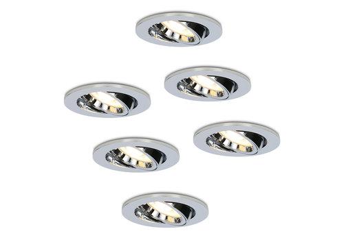HOFTRONIC™ Set van 6 stuks dimbare LED inbouwspots Maya met 4.2 Watt spot kantelbaar