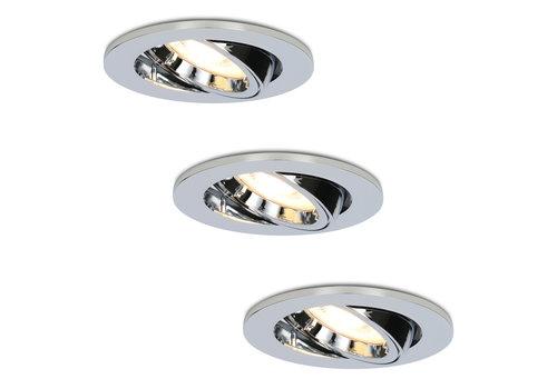 HOFTRONIC™ Set van 3 stuks dimbare LED inbouwspots Maya met 4.2 Watt spot kantelbaar