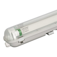 25x LED T8 TL armatuur IP65 150 cm 3000K  2x30W 9600lm 160lm/W