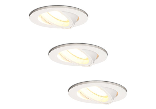 HOFTRONIC™ Set of 3 white dimmable LED downlights Dublin 4.2 Watt tiltable