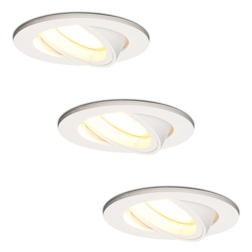 HOFTRONIC™ Set van 3 stuks witte dimbare LED inbouwspots Dublin 4.2 Watt kantelbaar