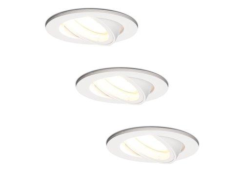 HOFTRONIC™ Set of 3 white dimmable LED downlights Dublin 5 Watt 4000K tiltable
