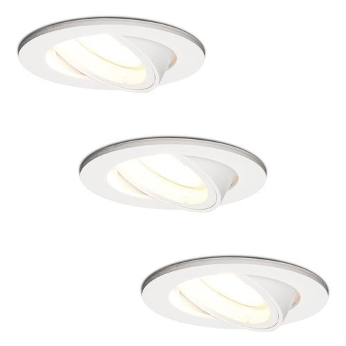 HOFTRONIC™ Set van 3 stuks witte dimbare LED inbouwspots Dublin 5 Watt 4000K kantelbaar