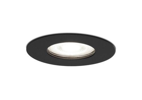 HOFTRONIC™ Dimbare LED inbouwspot Bari zwart GU10 5 Watt 6400K IP65 spatwaterdicht