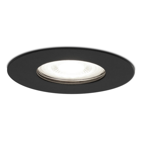 HOFTRONIC™ Dimmable LED spotlight Bari black GU10 5 Watt 6000K IP65 splashproof