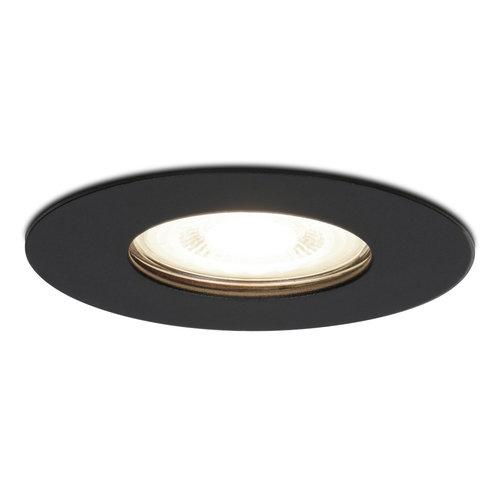 HOFTRONIC™ Dimbare LED inbouwspot Bari zwart GU10 5 Watt 4000K IP65 spatwaterdicht