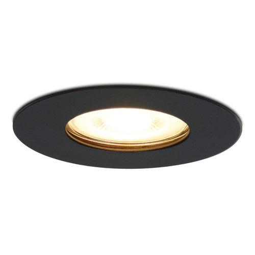 HOFTRONIC™ Dimbare LED inbouwspot Bari zwart GU10 5 Watt 2700K IP65 spatwaterdicht
