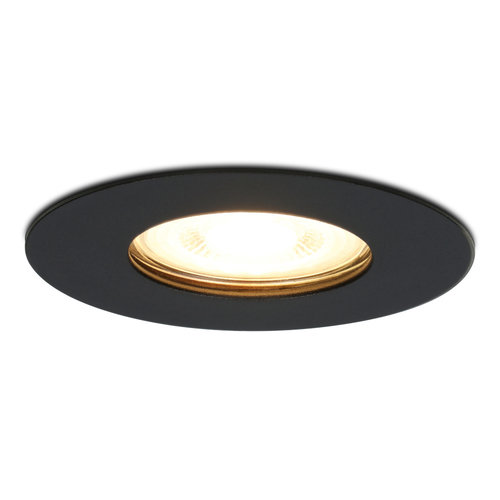 HOFTRONIC™ Dimmable LED spotlight Bari black GU10 5 Watt 2700K IP65 splashproof