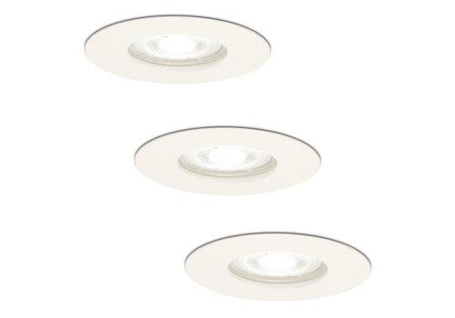 HOFTRONIC™ Set van 3 dimbare LED inbouwspots Bari wit GU10 5 Watt 6400K IP65 spatwaterdicht