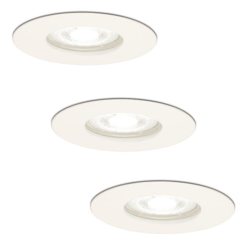 HOFTRONIC™ Set of 3 dimmable LED spotlights Bari white GU10 5 Watt 6000K IP65 splashproof