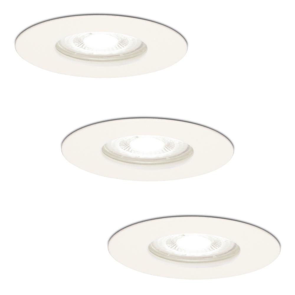 Set van 3 dimbare LED inbouwspots Bari wit GU10 5 Watt 6400K IP65 spatwaterdicht