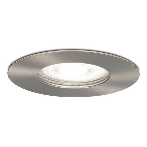 HOFTRONIC™ Dimbare LED inbouwspot Bari RVS GU10 5 Watt 6400K IP65 spatwaterdicht