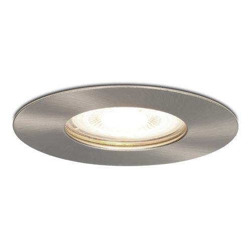 HOFTRONIC™ Dimmable LED spotlight Bari stainless steel GU10 5 Watt 4000K IP65 splashproof
