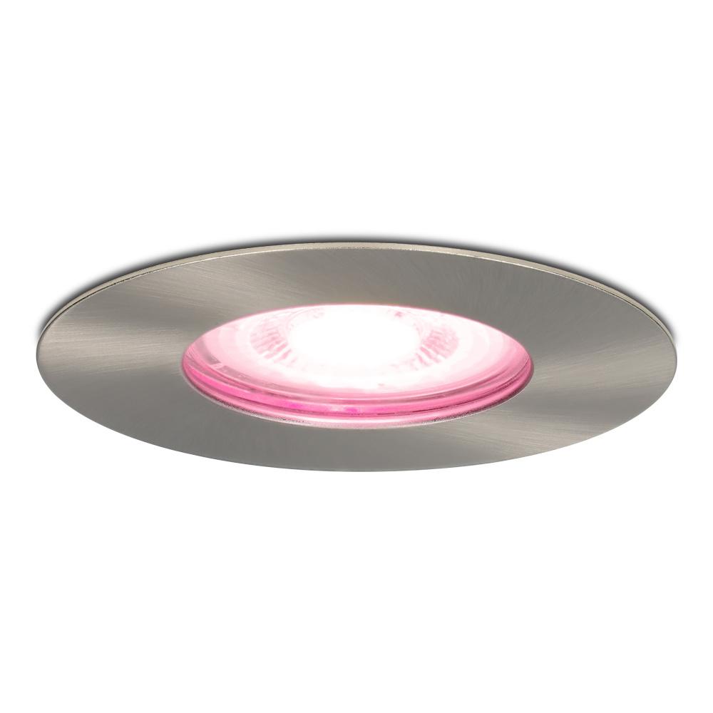 Smart WiFi dimbare RGBWW LED inbouwspot Bari RVS GU10 5,5 Watt IP65 spatwaterdicht