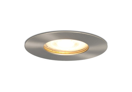 HOFTRONIC™ Dimbare LED inbouwspot Bari RVS GU10 4.2 Watt 2700K IP65 spatwaterdicht