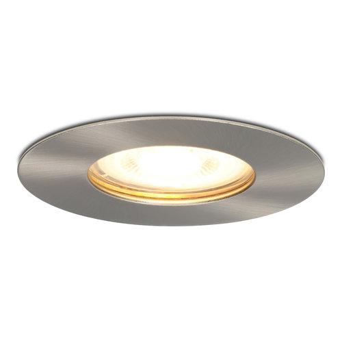 HOFTRONIC™ Dimbare LED inbouwspot Bari RVS GU10 5 Watt 2700K IP65 spatwaterdicht