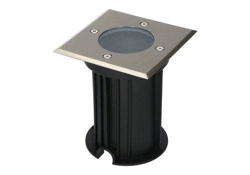 HOFTRONIC™ Ramsay dimbare LED grondspot vierkant RVS excl. lichtbron IP67 waterdicht 3 jaar garantie