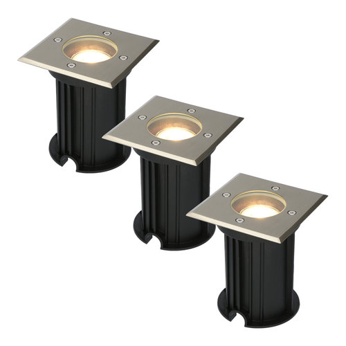 HOFTRONIC™ 3x Ramsay dimmable LED ground spotlight stainless steel 5W 2700K IP67