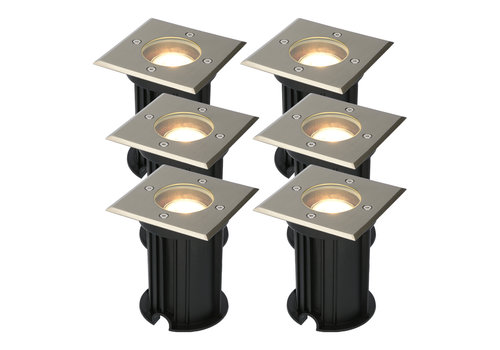 HOFTRONIC™ 6x Ramsay dimmable LED ground spotlight stainless steel 5W 2700K IP67