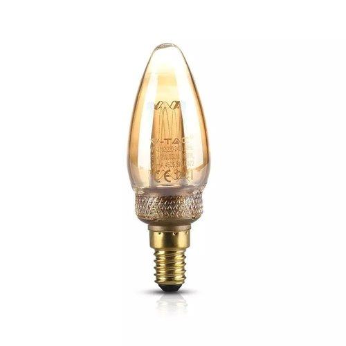V-TAC LED Bulb candle 2 Watt E14 1800K