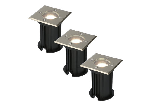 HOFTRONIC™ 3x Ramsay dimmable LED ground spotlight stainless steel 5W 4000K IP67