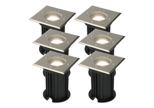 HOFTRONIC™ 6x Ramsay dimmable LED ground spotlight stainless steel 5W 4000K IP67