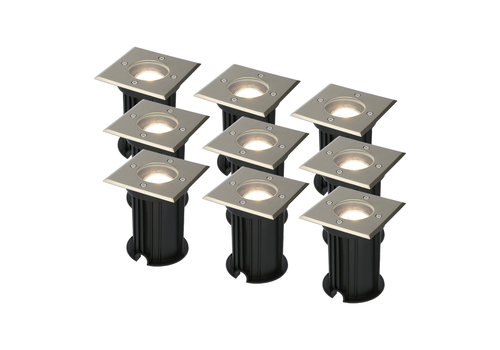 HOFTRONIC™ 9x Ramsay dimmable LED ground spotlight stainless steel 5W 4000K IP67