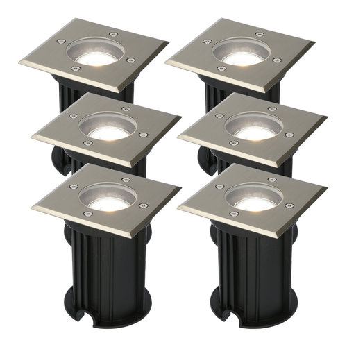 HOFTRONIC™ 6x Ramsay dimmable LED ground spotlight stainless steel 5W 6000K IP67