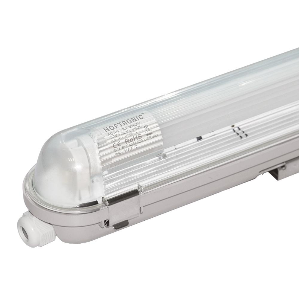 LED T8 TL armatuur IP65 120 cm 4000K 18W 2340lm 130lm/W