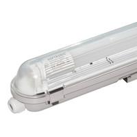 25x LED T8 TL armatuur 120 cm IP65 waterdicht 18W 2340lm 130lm/W 3000K - warm wit - koppelbaar - EIA subsidie geschikt