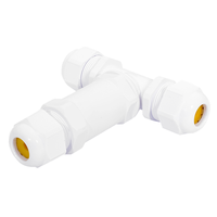 5x Kabelverbinder T-vorm IP68 waterdicht wit
