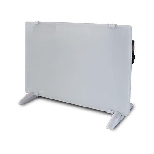 V-TAC Glazen Paneelverwarmer - Elektrische kachel - Panel Heater - Paneelverwarming - Portable Heater - Wit