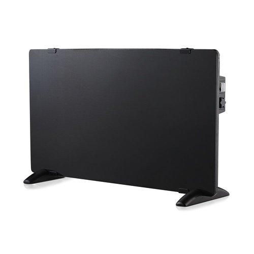 V-TAC Glazen Paneelverwarmer - Elektrische kachel - Panel Heater - Paneelverwarming - Portable Heater - Zwart