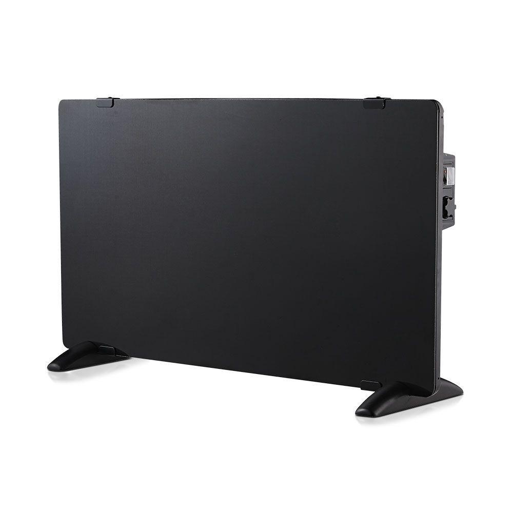 Glazen Paneelverwarmer - Elektrische kachel - Panel Heater - Paneelverwarming - Portable Heater - Zw