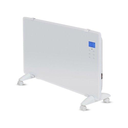 V-TAC Glazen Paneelverwarmer - Elektrische kachel - Panel Heater - Paneelverwarming - Portable Heater - Display Heater - Wit