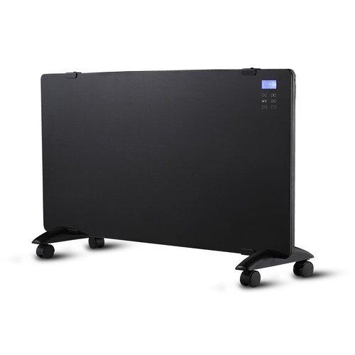 V-TAC Glazen Paneelverwarmer - Elektrische kachel - Panel Heater - Paneelverwarming - Portable Heater - Display Heater - Zwart