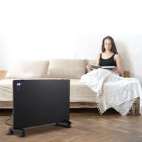 Glazen Paneelverwarmer - Elektrische kachel - Panel Heater - Paneelverwarming - Portable Heater - Display Heater - Zwart