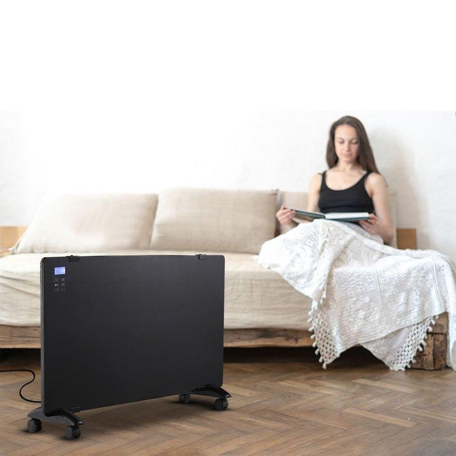 Glass Panel Heater - Electric heater - Panel Heater - Portable Heater - display heater - Black