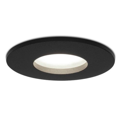 HOFTRONIC™ Dimbare LED inbouwspot Porto GU10 5 Watt 6000K IP44 Zwart