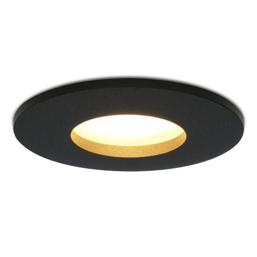 HOFTRONIC™ Dimbare LED inbouwspot Porto GU10 4.2 Watt 2700K IP44 Zwart