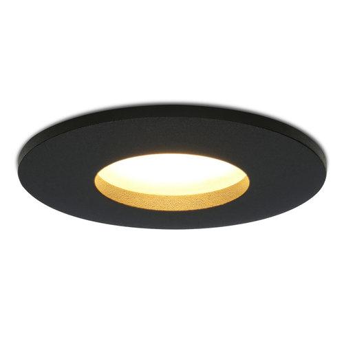 HOFTRONIC™ Dimbare LED inbouwspot Porto GU10 5 Watt 2700K IP44 Zwart