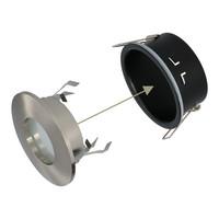 Set van 3 stuks dimbare LED inbouwspots Vegas met 5 Watt 6400K spot IP44 [vochtbestendig]
