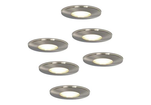 HOFTRONIC™ Set van 6 stuks dimbare LED inbouwspots Vegas met 5 Watt 4000K spot IP44 [vochtbestendig]