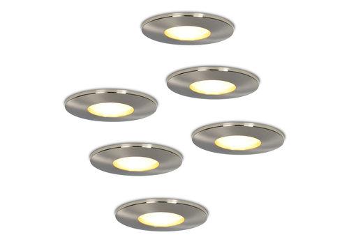 HOFTRONIC™ Set of 6 dimmable LED downlights Vegas 5 Watt spot IP44 [waterproof]