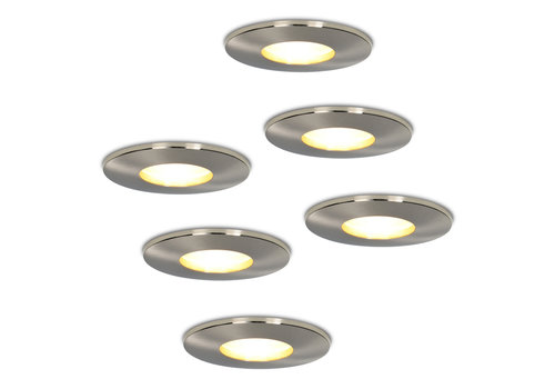 HOFTRONIC™ Set van 6 stuks dimbare LED inbouwspots Vegas met 4.2 Watt spot IP44 [vochtbestendig]