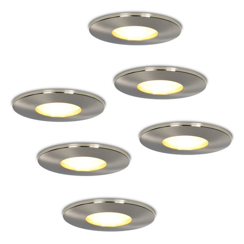 HOFTRONIC™ Set of 6 dimmable LED downlights Vegas 4.2 Watt spot IP44 [waterproof]