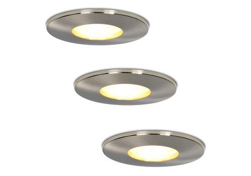 HOFTRONIC™ Set of 3 dimmable LED downlights Vegas 5 Watt spot IP44 [waterproof]