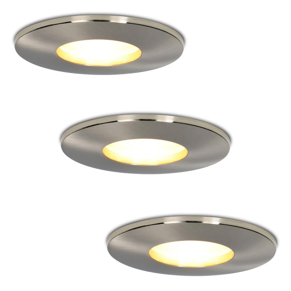 Set van 3 stuks dimbare LED inbouwspots Vegas met 5 Watt spot IP44